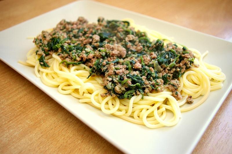 Zielone spaghetti hewps.pl Blog Kulinarny Dietetyczne Przepisy
