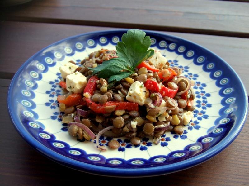 Sałatka z soczewicy z pieczonej papryki - hewps.pl Dietetyczny Blog Kulinarny, Przepisy