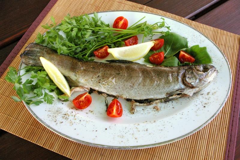 Dietetyczne Przepisy, Blog Kulinarny - Pstrąg z grilla