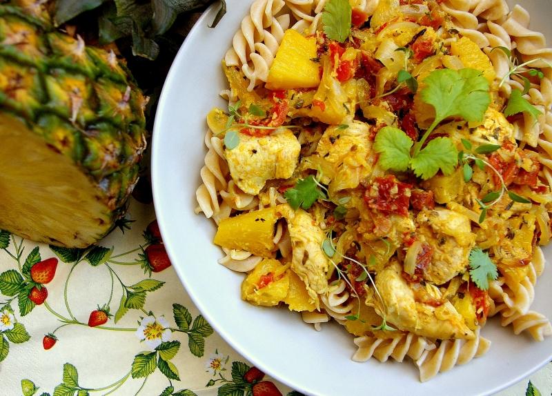 Blog kulinarny - Dietetyczne przepisy - Kurczak z Antylii