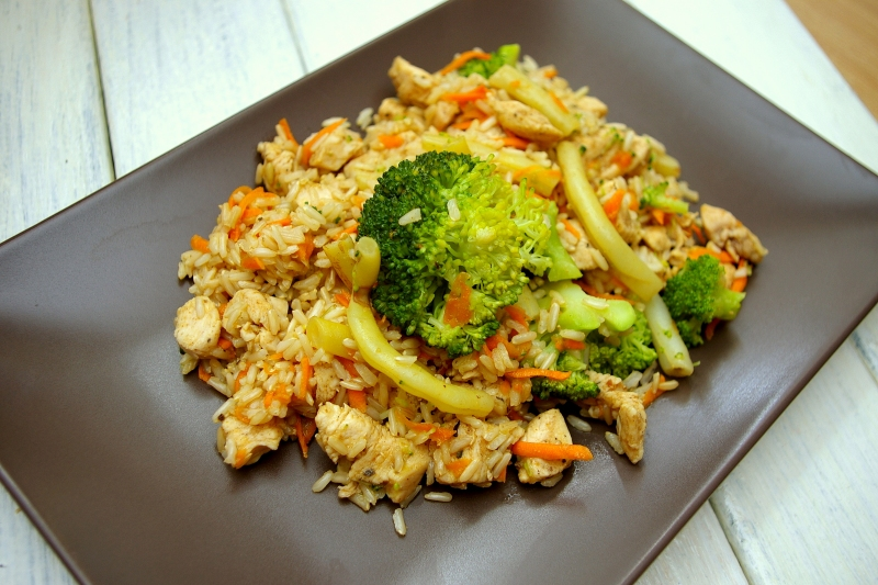 Ryz Z Kurczakiem I Warzywami Fitness Food Pl Zdrowa Zywnosc