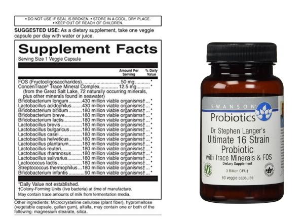Porównanie preparatów probiotycznych - Swanson