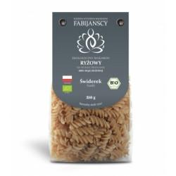 FABIJAŃSCY Makaron z ryżu białego 100% BIO 250g - świderek
