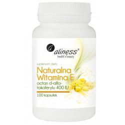 ALINESS Naturalna witamina E 100 kaps. 400 IU