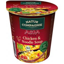 NATUR COMPAGNE Danie w kubku (zupa z kurczakiem i makaronem po azjatycku) BIO 55g