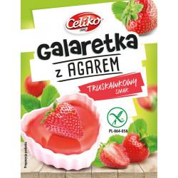 CELIKO Galaretka z agarem o smaku truskawkowym 45g