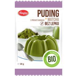 AMYLON Budyń z herbatą Matcha o smaku ananasowym BIO bezglutenowy 40g