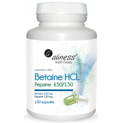 ALINESS Betaine HCL Pepsine 650/150mg 100 kaps.