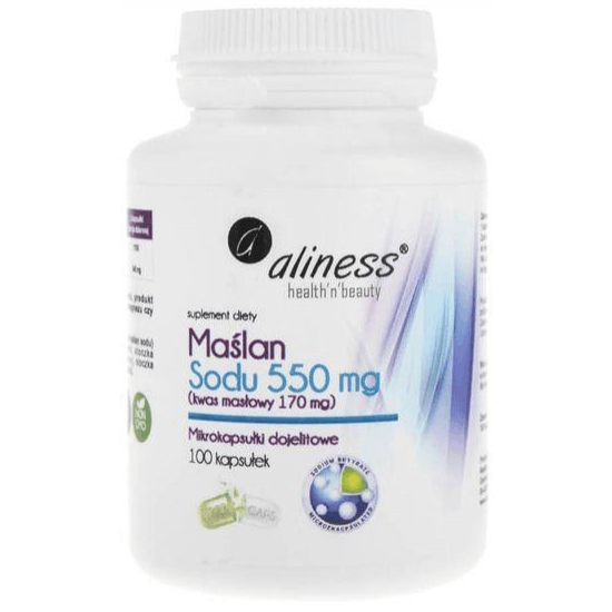 ALINESS Maślan Sodu 550mg 100 kaps.