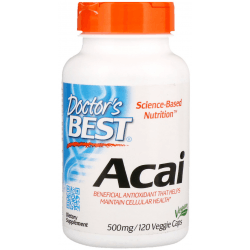 DOCTOR'S BEST Acai 500mg 120 kaps.
