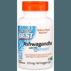 DOCTOR'S BEST Ashwagandha with Sensoril® 125 mg 60 kaps.