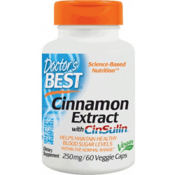 DOCTOR'S BEST Cinnamon Extract + CinSulin 60 kaps.