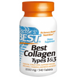 DOCTOR'S BEST Collagen Types 1 & 3 1000mg 540 tab.