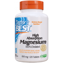 DOCTOR'S BEST High Absorption Magnesium 100mg 120 tab.