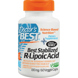 DOCTOR'S BEST Stabilized R-Lipoic Acid 100mg 60 kaps.