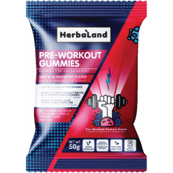 HERBALAND Pre-Workout Fitness Gummies 50g