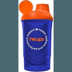 HEWPS Shaker Citrus Orange/Stunning Blue 600 ml
