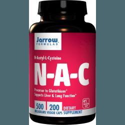JARROW N-A-C (N-Acetyl-L-Cysteine) 500mg 200 kaps.