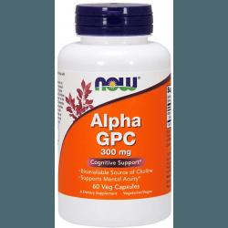 NOW FOODS Alpha GPC 300 mg 60 kaps