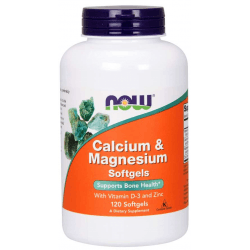 NOW FOODS Calcium & Magnesium Softgels 120 kaps.