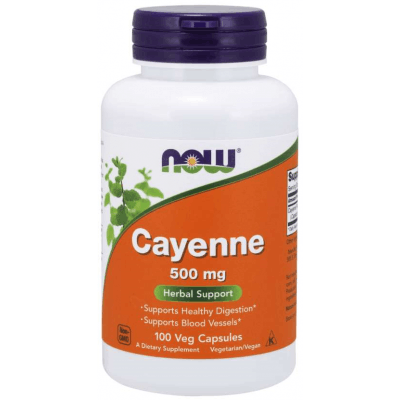 NOW FOODS Cayenne 500mg 100 kaps.