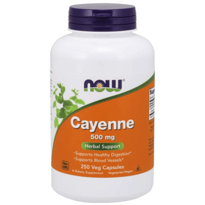 NOW FOODS Cayenne 500mg 250 kaps.