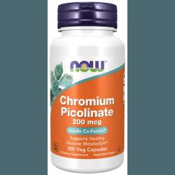 NOW FOODS Chromium Picolinate 200mcg 100 kaps.