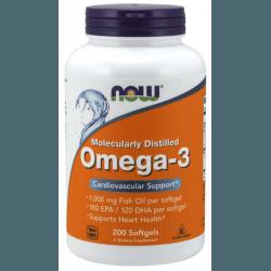 NOW FOODS Omega-3 Molecularly Distilled 200 softgels