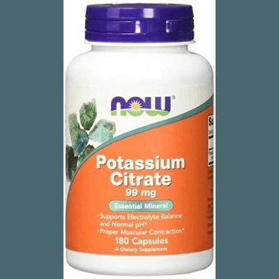 NOW FOODS Potassium Citrate 99mg 180 kaps.