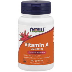 NOW FOODS Vitamin A 25,000 IU 100 kaps.