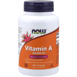 NOW FOODS Vitamin A 25,000 IU 250 kaps.