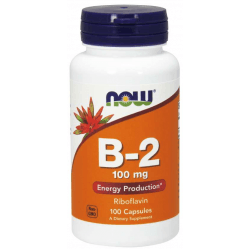 NOW FOODS Vitamin B-2 100mg 100 kaps.