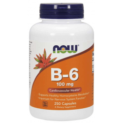 NOW FOODS Vitamin B-6 100mg 250 kaps.