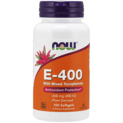 NOW FOODS Natural E-400 100 kaps.