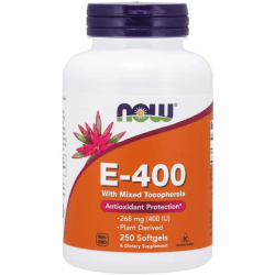 NOW FOODS Natural E-400 250 kaps.