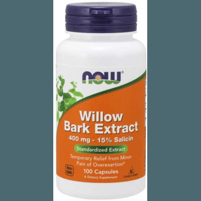 NOW FOODS White Willow Bark 400mg 100 kaps.
