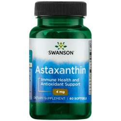 SWANSON Astaxanthin 4mg 60 kaps.