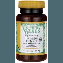 SWANSON Banaba Extract 60mg 90 kaps.