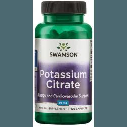 SWANSON Potassium Citrate 120 kaps.