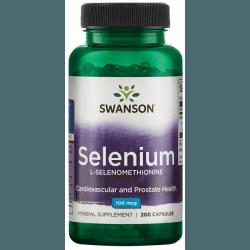 SWANSON Selenium 100mcg 200 kaps.